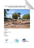 A study to upscaling of the principle and sediment transport processes behind sand storage dams, Kitui District, Kenya
